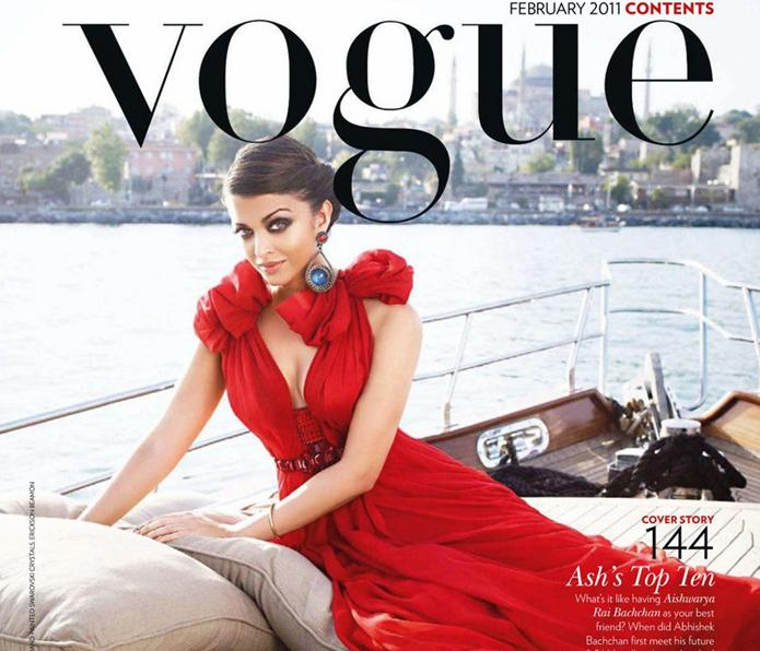 Aishwarya Rai Does Indian Vogue Fashion In The Urban Jungle