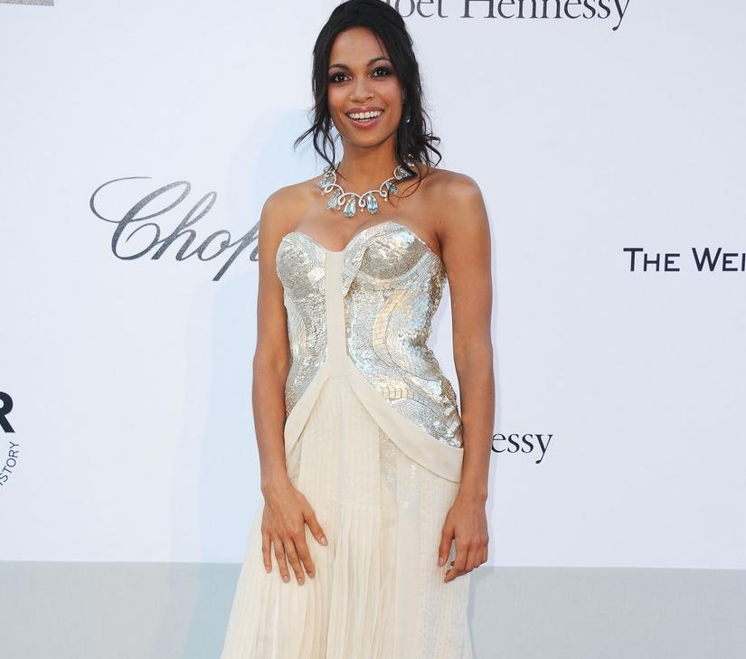 rosario dawson in robert cavalli cannes 2011 fashion in