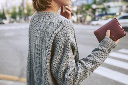 GreyCableKnitSweater