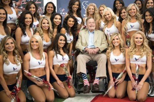 George Bush Pink American Flag Socks  01