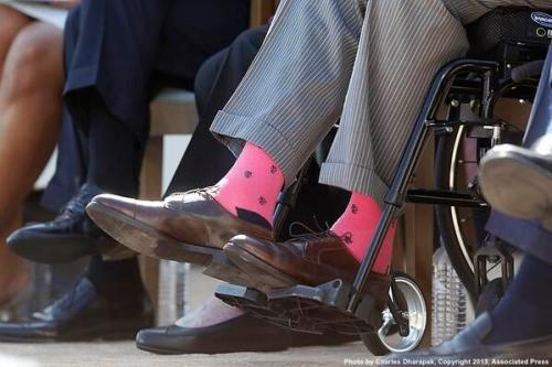 George Bush Pink Socks 01