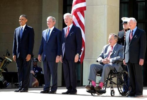 George Bush Pink Socks 02