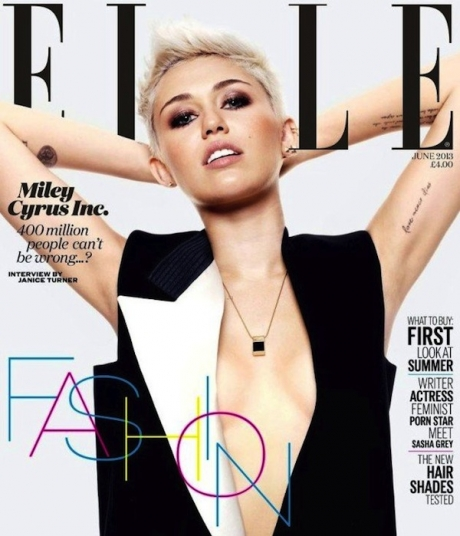 Miley Cyrus Cover Elle UK 2013 01