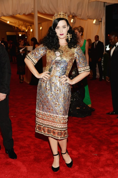 Katy Perry 2013 Met Gala Dolce and Gabbana