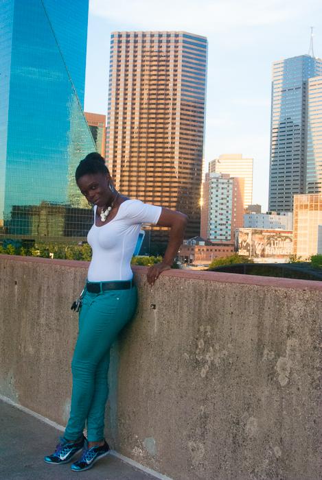 American Apparel Bodysuit Express Skinny Jeans (1 of 4)
