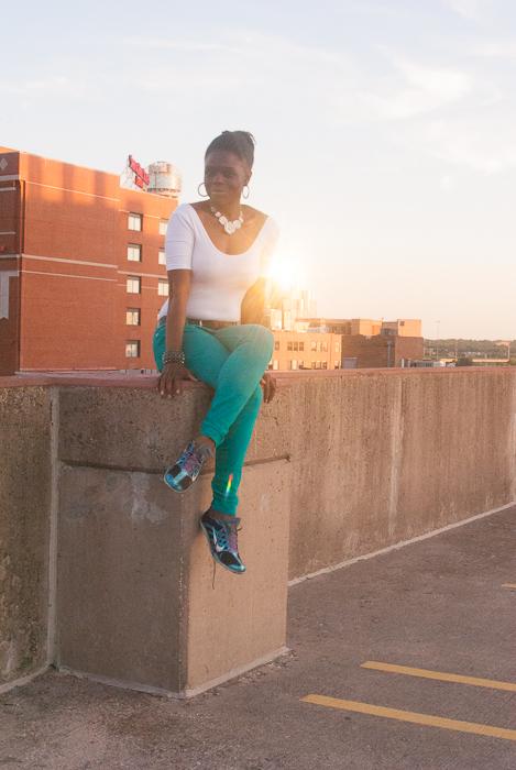 American Apparel Bodysuit Express Skinny Jeans (2 of 4)