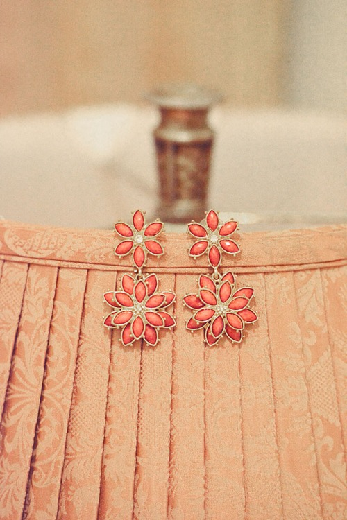 Amarita Singh Pink and Gold Earrings