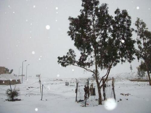Snow in the Middle East