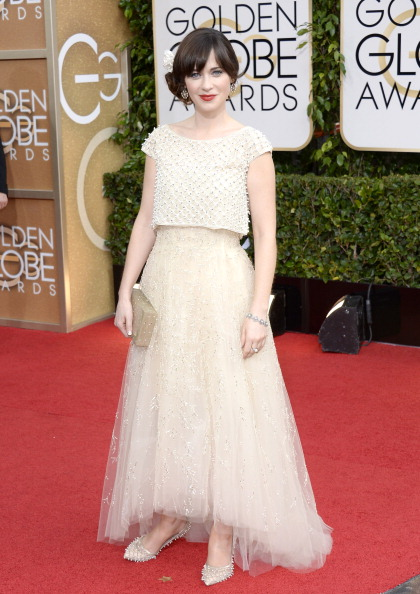 2014 Golden Globes Zooey Deschanel