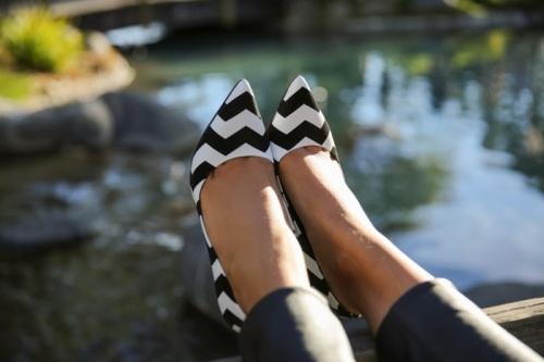 Chevron Print Shoes