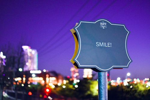 Smile, Katy Trail, Dallas