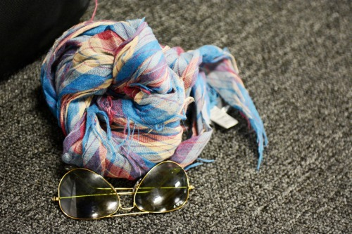 Ray-Bans, Aviators, Scarf, UrbanOutfitters