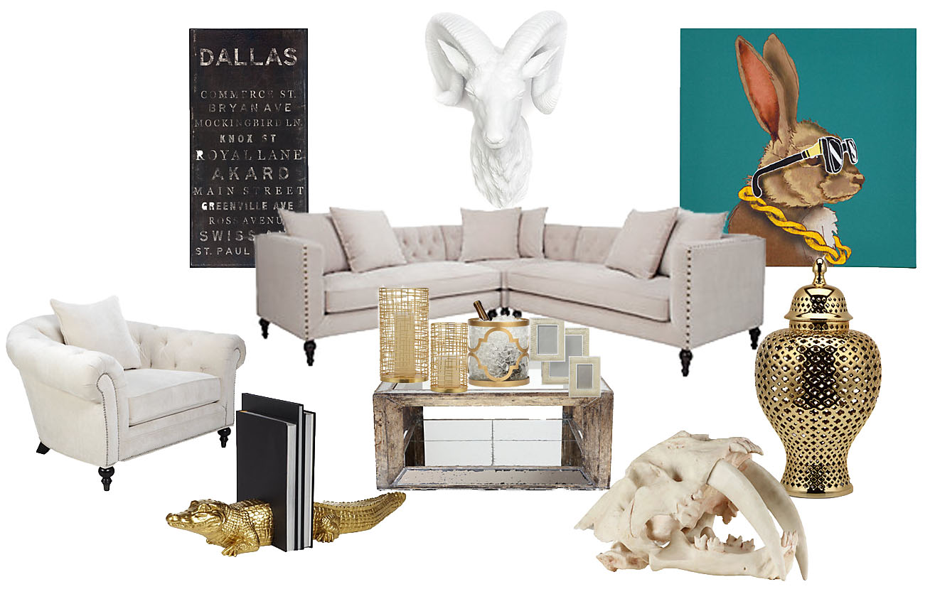 Z Gallerie Living Room · Couch