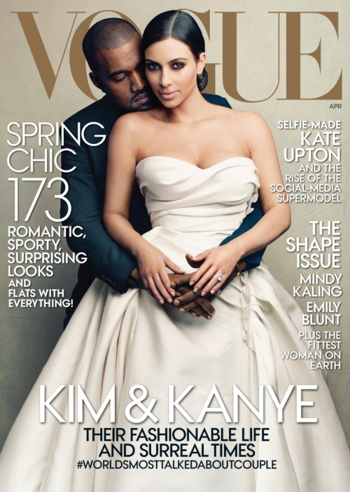 Kim Kardashian, Kanye West, Vogue April 2014