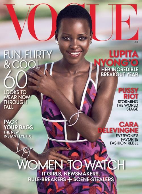 Lupita Nyongo, US Vogue, July 2014, Mikael Jansson Cover